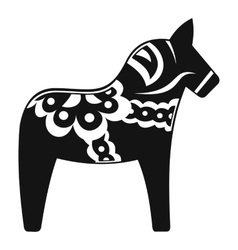 Toy horse icon simple style vector image