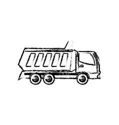 Trash truck icon vector
