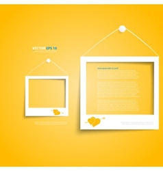 white frames on the wall vector image