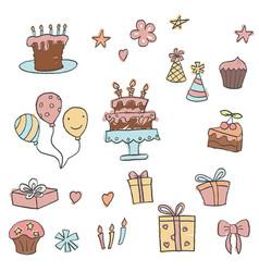 Happy birthday icons set happy birthday icons set vector