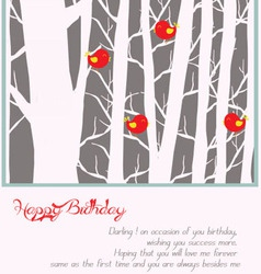 Happy holiday with trees vector