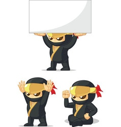 Ninja customizable mascot 11 vector
