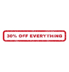 30 Percent Off Everything Rubber Stamp vector image vector image