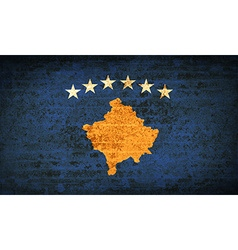 Flags kosovo with dirty paper texture vector