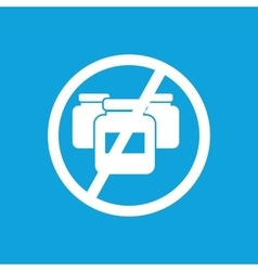 No medicine icon simple vector