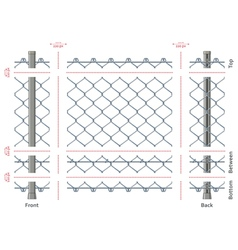 Highly detailed chain-link fence with no gradients vector
