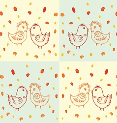 Drawing of birds vector