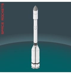 Isometric russian space rocket proton vector