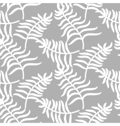 Tropical jungle palm leaves pastel color pattern vector