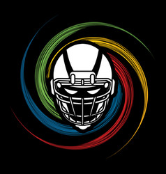 american football helmet graphic vector image vector image