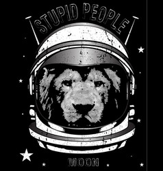Animal astronaut suit hand drawn vector