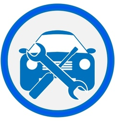 Auto repair shop sign vector