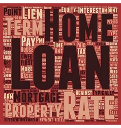 Basic Home Loan Terms Explained text background vector image vector image