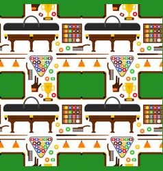 billiard game equipment background pattern vector image