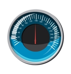 Blue speedometer icon cartoon style vector image vector image
