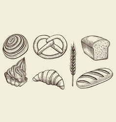 bread set vector image vector image