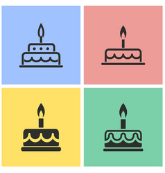 Cake icon set vector