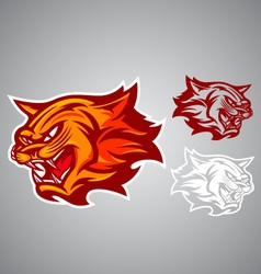 Cat red logo emblem vector