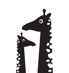 Children s poster with a picture of a giraffe and vector