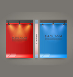 color room with a light source banner lighted vector image