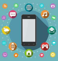 Communication concept smart phone flat design vector