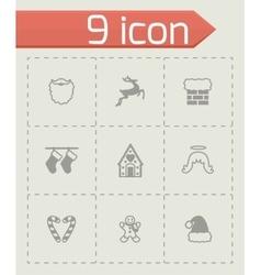 Cristmas icon set vector