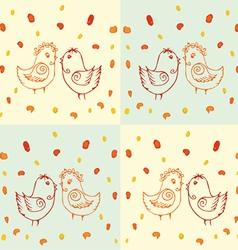 Drawing of birds vector