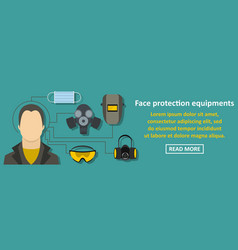 Face protection equipments banner horizontal vector