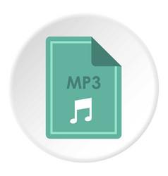 File mp3 icon circle vector
