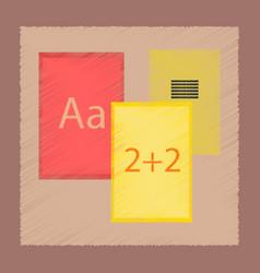 Flat shading style icon school notebooks vector