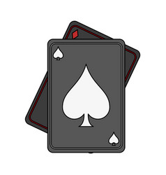 game cards spades diamonds icon image vector image vector image