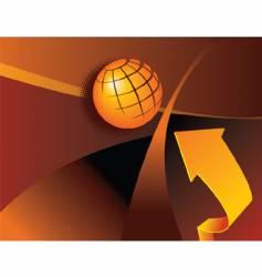 globe arrow vector image vector image
