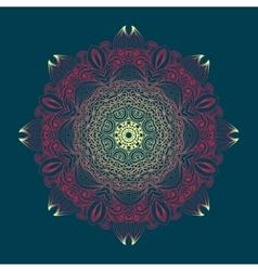Kaleidoscopic floral pattern mandala design in vector