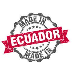 Made in ecuador round seal vector