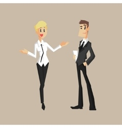 Man And Woman Colleagues vector image vector image