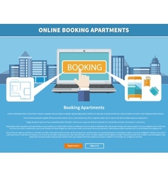 Online Booking Apartments vector image vector image