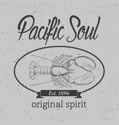 original spirit poster vector image vector image