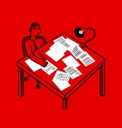 paperwork clerk vector image vector image