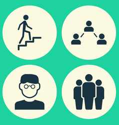 Person icons set collection of group network vector