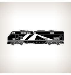 Rail transport vehicle on light background vector
