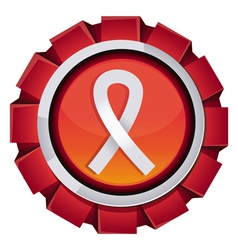 red award with breast cancer sign vector image vector image