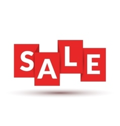 Red SALE labels promotional concept flat vector image vector image