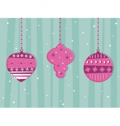 retro hanging decorations vector image vector image