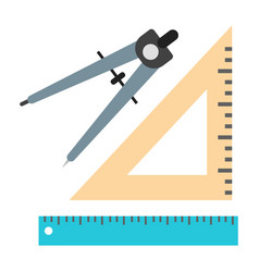 school divider and ruler vector image