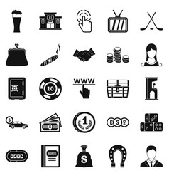 Tote icons set simple style vector