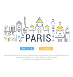 Website Banner and Landing Page Paris vector image