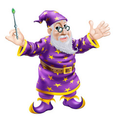 wizard with wand vector image