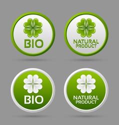 Bio and natural product badge icons vector