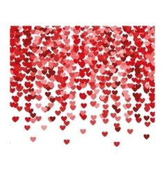 re hearts explosion confetti vector image
