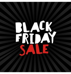 Black friday on black rays vector